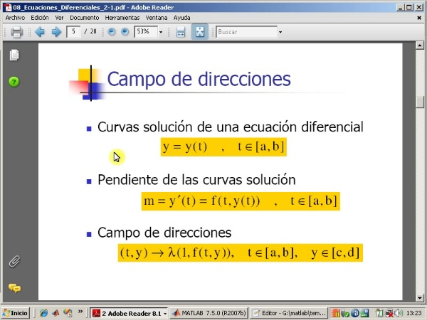 Tema 8. Ecuaciones diferenciales ordinarias. Método de Heun