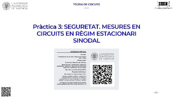 Pràctica 3 Teoria de Circuits ETSII