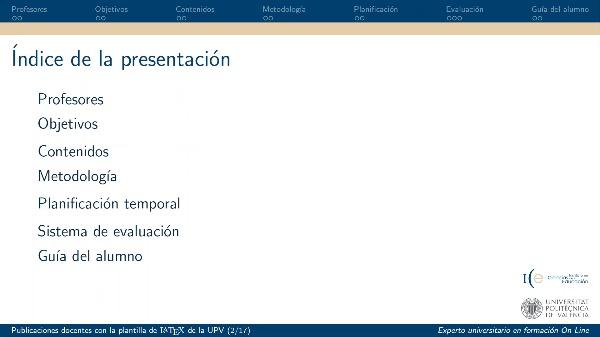 ICE - Publicaciones docentes con la plantilla de LaTeX de la UPV - 2020