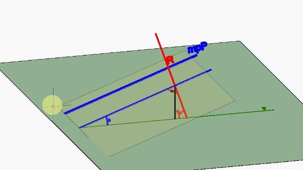 Perpendicularidad recta/plano en el sistema de planos acotados