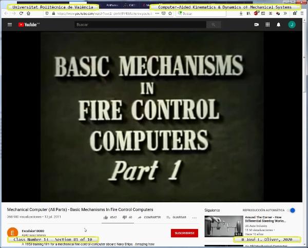 Mecánica y Teoría de Mecanismos ¿ 2020 ¿ MM - Clase 13 ¿ Tramo 01 de 10
