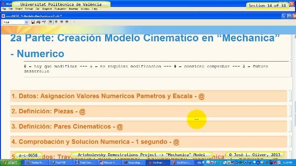 Simulación Mecanismo a_c_0658 con Mechanica - 14 de 18