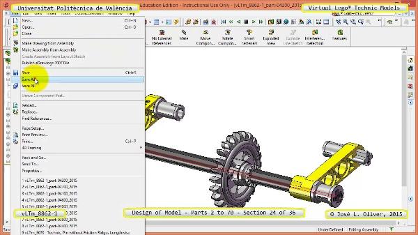 Creación Virtual Modelo Lego Technic 8862-1 ¿ Piezas 2 a 70 ¿ 24 de 36