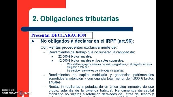 El Impuesto sobre la Renta de las Personas Físicas: Principales obligaciones tributarias