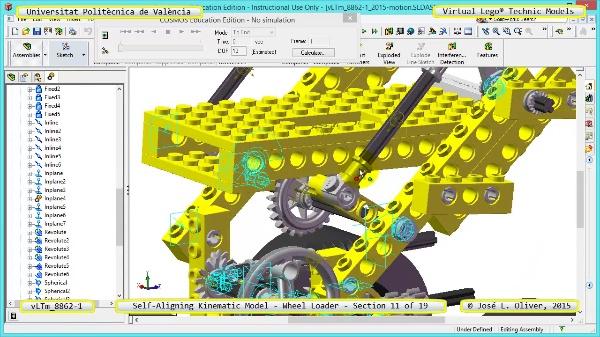 Simulación Cinemática Modelo Lego Technic 8862-1 -Cargador- 11 de 19