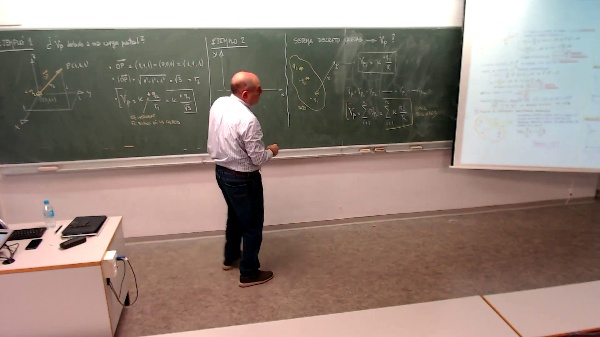 Física 1. Lección 5. Ejemplo 2 (Potencial creado por dos cargas)