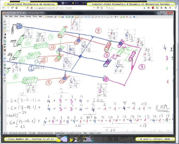 Mecánica y Teoría de Mecanismos ¿ 2020 ¿ MM - Clase 08 ¿ Tramo 13 de 13