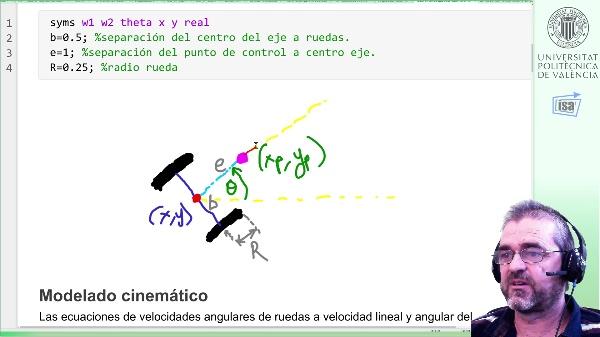 Desacoplamiento y linealización por realimentación de un robot de 2 ruedas para control cinemático por punto descentrado