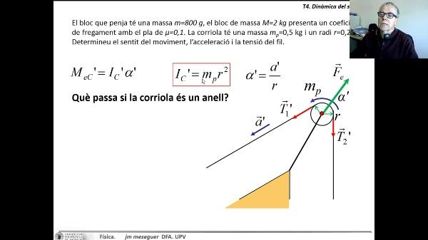 Dinámica del sólido. Dinámica de rotación. Ejemplo 1 C