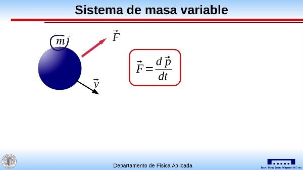 Segunda ley de Newton para un sistema de masa variable
