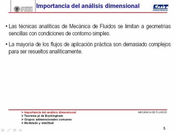 Análisis Dimensional en la Mecánica de Fluidos 01