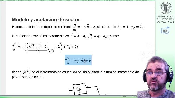 Prestaciones robustas ante no linealidad, depósito 1er orden (III): Planta generalizada