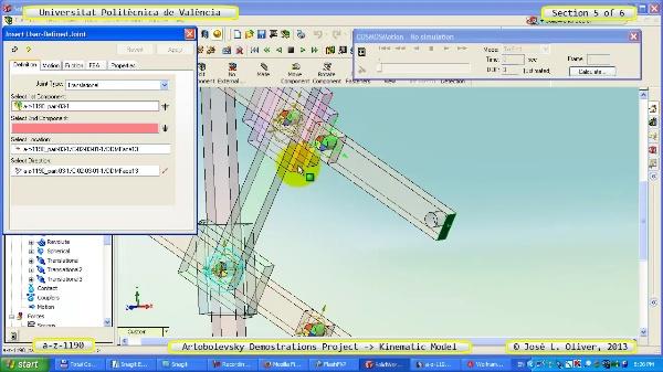 Simulación Mecanismo a_z_1190 con Cosmos Motion - 5 de 6