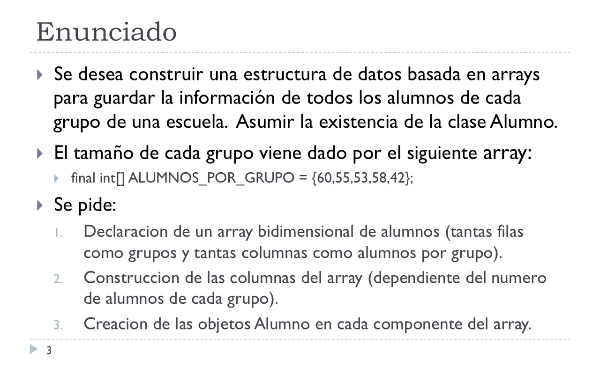 [IIP-OA] Arrays Multidimensionales en Java: Grupos de Alumnos