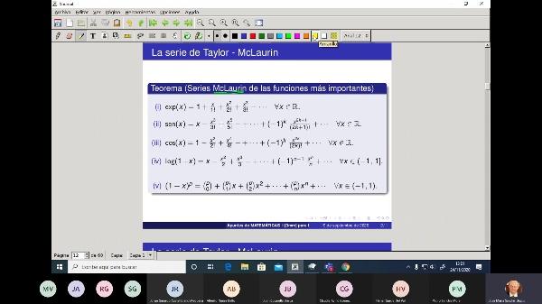 Matemáticas 1 GITI grupo A  Clase 21