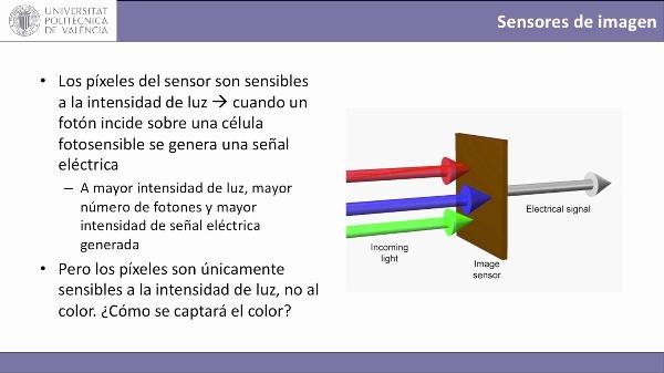 Captura de color en sensores digitales de imagen