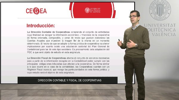 Presentación Dirección contable y fiscal de cooperativas