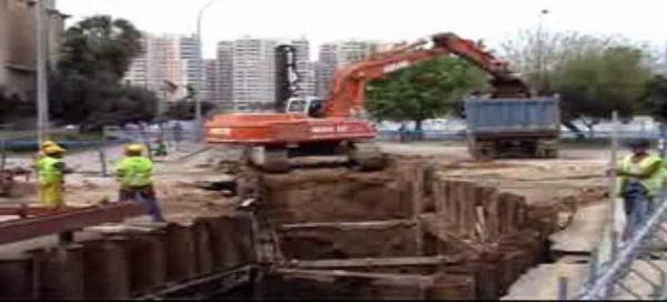 Excavación con tablestacas