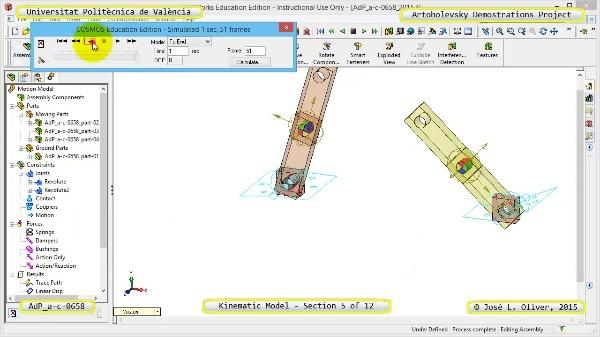 Simulación Mecanismo a-c-0658 con Cosmos Motion - 05 de 12