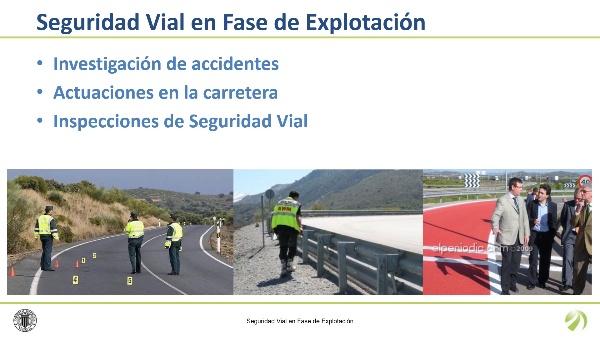 Seguridad vial en fase de explotación