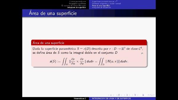 Integrales de Superficie 2