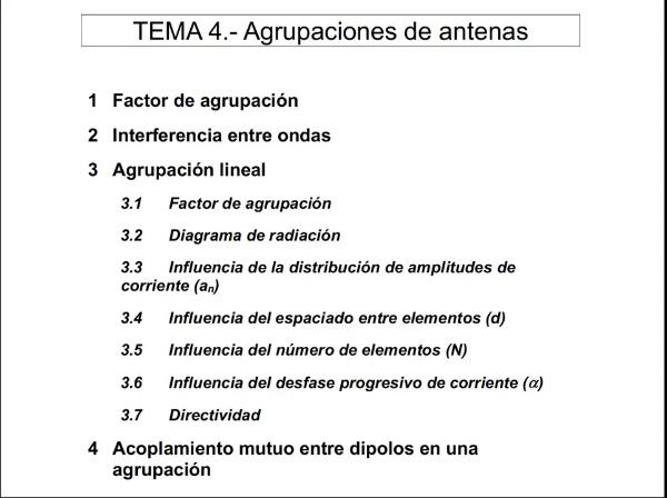 4.1.- Factor de agrupación