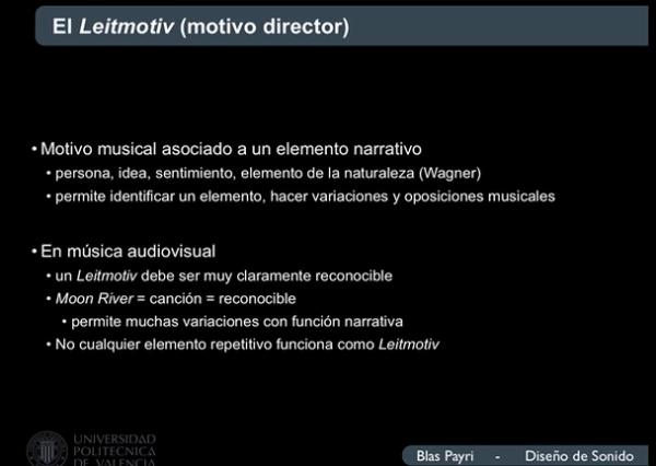 El Leitmotiv en música audiovisual: Moon River