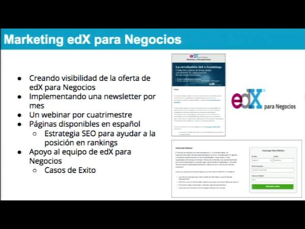 SPOC Gestión de MOOC. Marketing de edX. Negocios
