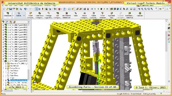 Creación Virtual Modelo Lego Technic 8862-1 ¿ Montaje Modelo ¿ 11 de 44