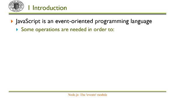 Node.js: Module 'events'