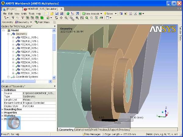 Montaje de un robot ABB con Ansys Workbench. Tramo 05 DE 07