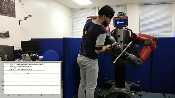 Dual-Arm Teleoperation Combining Haptics and Motion Capture: Surface Conditioning