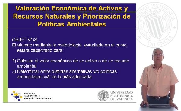 Valoración económica de activos y recursos naturales y priorización de polí