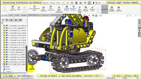 Creación Virtual Lego Technic 8047-2 ¿ Montaje de Cadenas ¿ 3 de 5