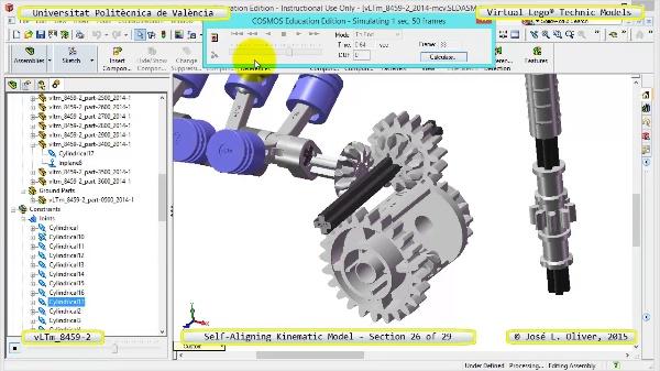 Simulación Cinemática Lego Technic 8459-2 con Cosmos Motion ¿ 26 de 29