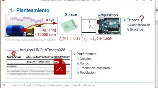 Acondicionamiento y adquisición de datos provenientes de un acelerómetro
