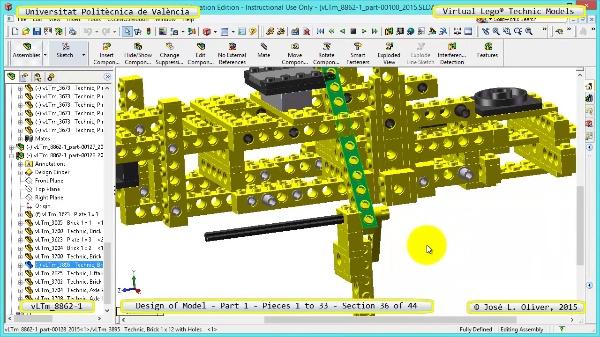 Creación Virtual Modelo Lego Technic 8862-1 ¿ Pieza 1 ¿ 36 de 44