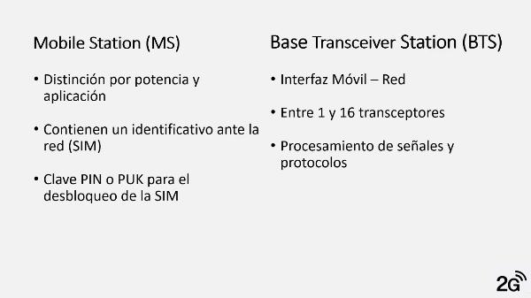 Arquitectura Redes 2G