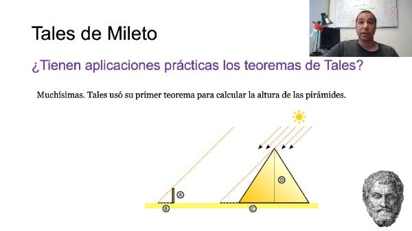 Los dos teoremas de Tales