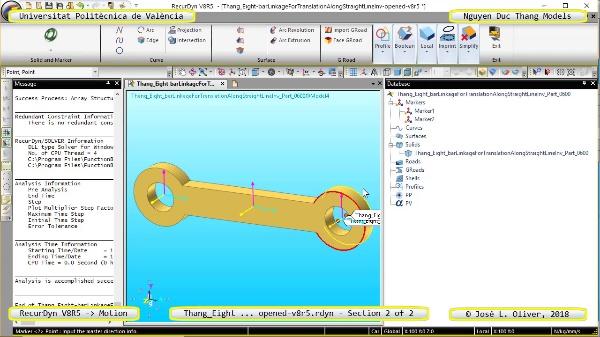Simulación Cinemática Thang_Eight-barLinkage ... opened-v8r5 con Recurdyn - TenFTa - 2 de 2