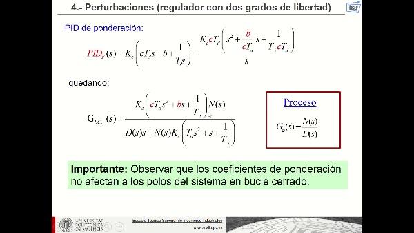 PID ponderación (fundamentos teóricos)