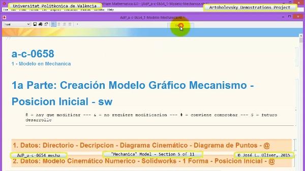 Simulación Mecanismo a-c-0654 con Mechanica - 05 de 11