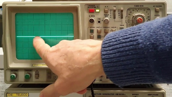 Uso del osciloscopio analógico-digital