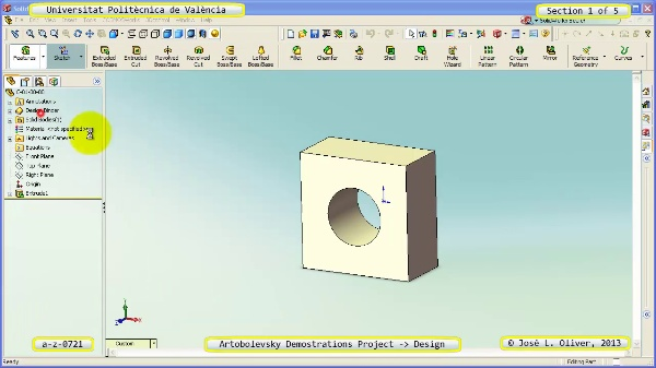 Creación Virtual Mecanismo a_z_0721 con Solidworks - 1 de 5