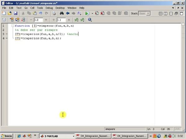 Tema 4. Integración numérica. Extrapolación de Richardson. Algoritmo