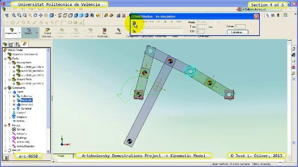Simulación Mecanismo a_c_0658 con Cosmos Motion - 4 de 5