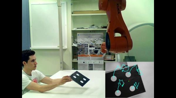 Control visual basado en posición (PBVS) de un brazo robótico con configuración eye-in-hand