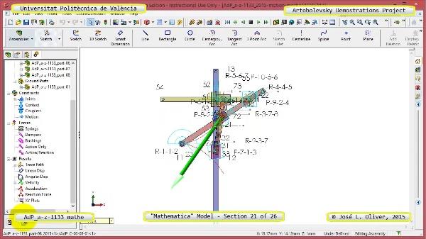 Solución Cinemática Simbólica a-z-1133 con Mathematica - 21 de 26