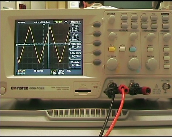 Visualización de ondas con el osciloscopio 2