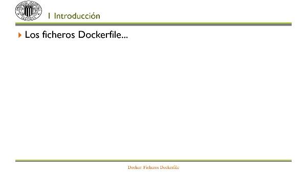 Docker: Ficheros Dockerfile